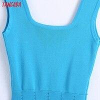 Tangada 2021 Summer Women Striped Oversized Robe Dress Short Sleeve Ladies Midi Dress Vestidos CE175 2