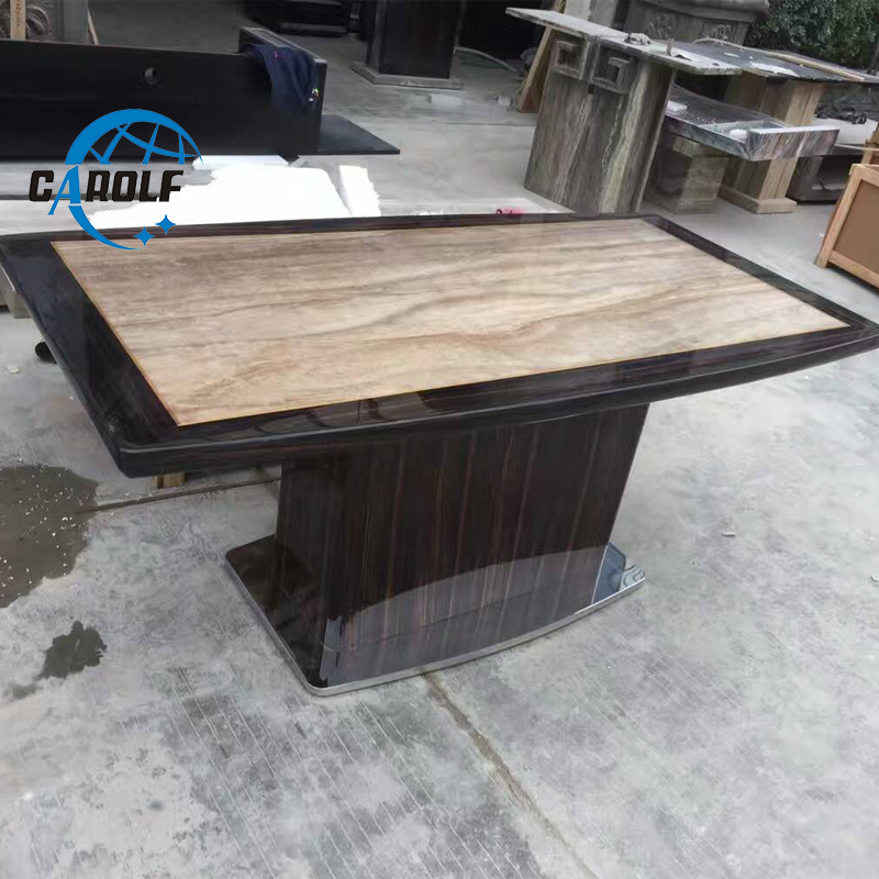 Best Price Kitchen Modern Natural Marble Stone Top Dining Tables