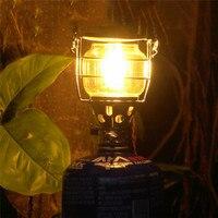 Camping para światła na zewnątrz Camping pary gazu światła lampy przenośne oświetlenie namiotu szklana pokrywa Camping światła w Zewnętrzne narzędzia od Sport i rozrywka na