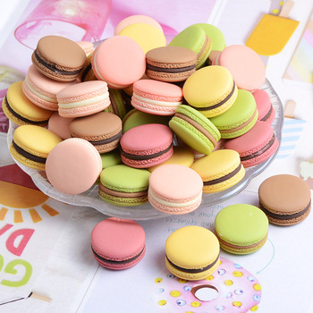 10pcs Simulation Stereo Macaron Accessories Cream Phone Case Food Necklace Pendant Jewelry Resin