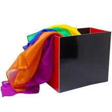 Шелковый Фонтан коробка изменить из шелка из пустой коробки магический реквизит сцены шарфы аксессуары трюк магический реквизит трюки игрушки