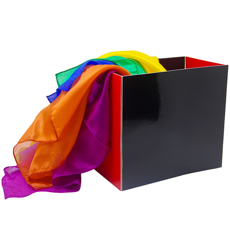 Silk Fountain Box Change Out Silk From Empty Box Magic Props Stage Scarves Accessories Gimmick Magic Props Tricks Toys
