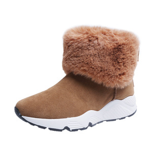 Image 4 - SWYIVY PU Snow Booties Wedge Shoes Woman Winter Boots 2019 Warm Casual Slip On Ladies Shoe Ankle Boots For Women Shoes Platform