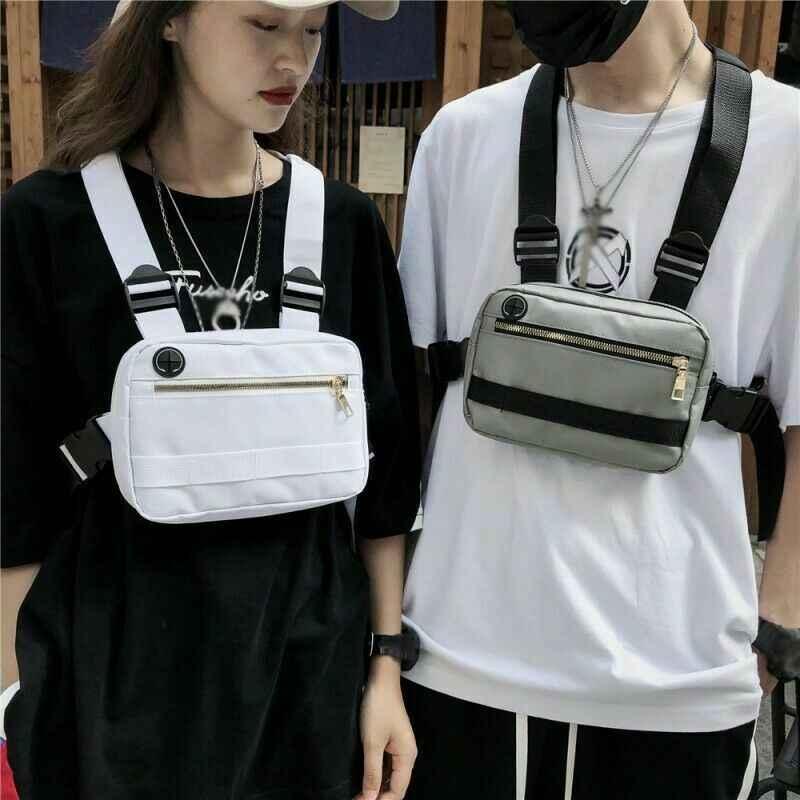 2020 Nieuwste Hot Mannen Vrouwen Mode Borst Zak Hip Hop Streetwear Heuptas Duurzaam Verstelbare Tactische Slijtvaste Borst Zakken