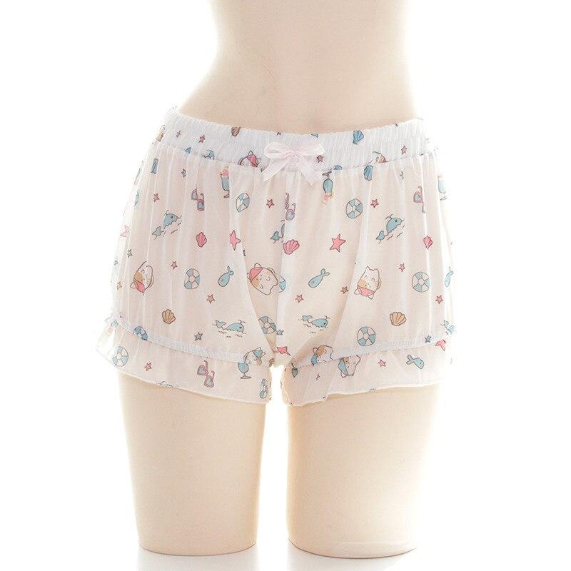 Kawaii Cat Teenage Girl Sleepwear Shorts Summer Japanese Lolita Cosplay Bottom Women Scanties Cute Pumpkin Short Pants Bloomers