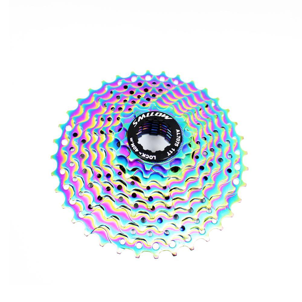 Купить smllow mtb красочные кассета 9 скорость 11 13t 15t 18t 21 24t