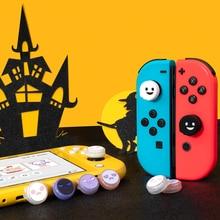 GeekShare-Juego de empuñaduras de silicona para Halloween, 4 Uds., tapa de mando, interruptor e interruptor Lite, Thumb Stick analógico