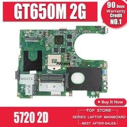 17R N7720 dla DELL 5720 7720 płyta główna CN 072P0M 072P0M płyta główna DA0R09MB6H1 DA0R09MB6H3 2D GT650M 2GB pracy 100%|Płyty główne|   -