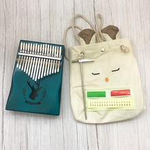 17 Key Finger Kalimba Paino  Mbira Sanza Thumb Piano Pocket Size Supporting Bag Cega Keyboard Marimba Wood Musical Instrument