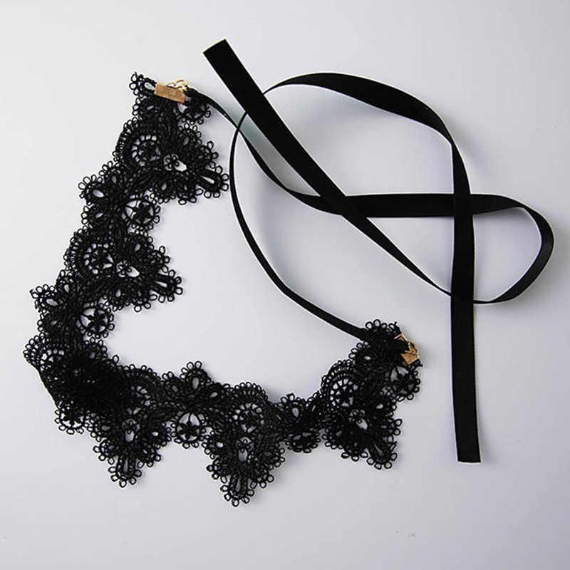 Negro gargantilla gótica Collar de las mujeres Sexy gargantillas de terciopelo Collar gargantilla de cadena Collar de mujer Collar de declaración de joyería NR3744