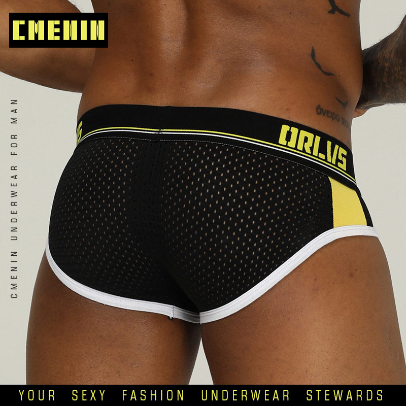 CMENIN Men Underwear Brand Sexy Male Panties Man Underpants Mesh Gay Penis Briefs String Homme Cueca Thong Bikini Lingerie OR192