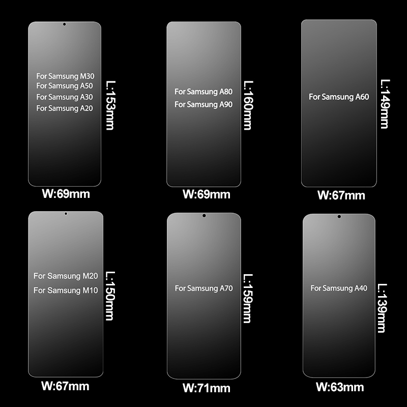 Tempered Glass for Samsung Galaxy A50 A60 A70 A20 Screen Protector Glass for Samsung A50 A80 A70 A30 A60 A40 M30 M20 M10 Glass