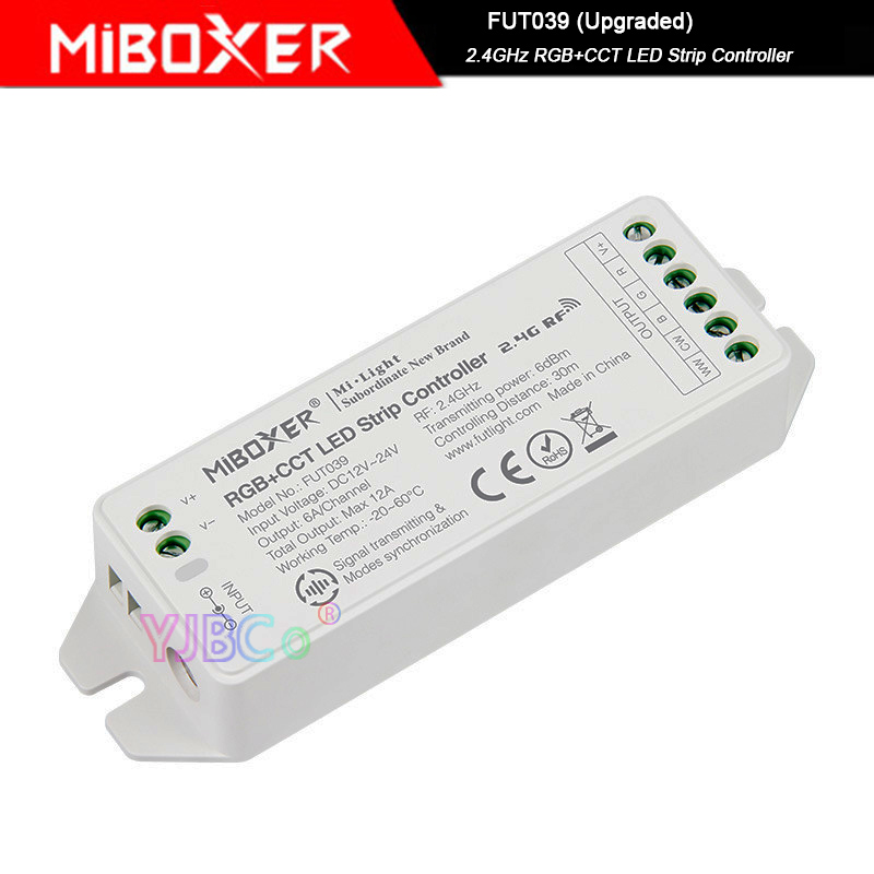 New Miboxer 2.4GHz RGB+CCT LED Strip Light Controller,FUT039 (Upgraded) DC12V~24V Led Lamp Tape Dimmer
