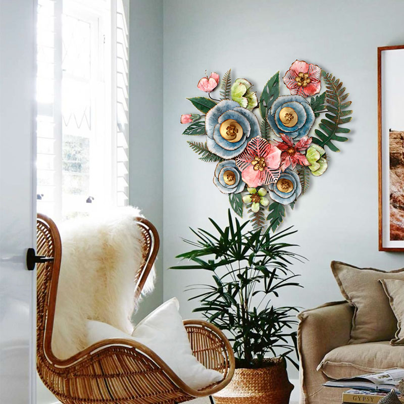 Гостиная Цветочные настенные наклейки украшения творческий дом кованого железа Висячие - 2