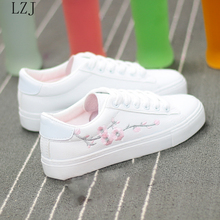 White Casual Sneakers Flats Women Canvas Shoes Spring Autumn