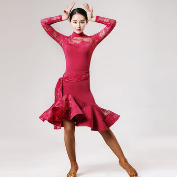 Green Women Latin Dress Latin Dance Costumes for Women  Latin Salsa Dress for Dance Competition Latin Dance Tango Dress Fringe