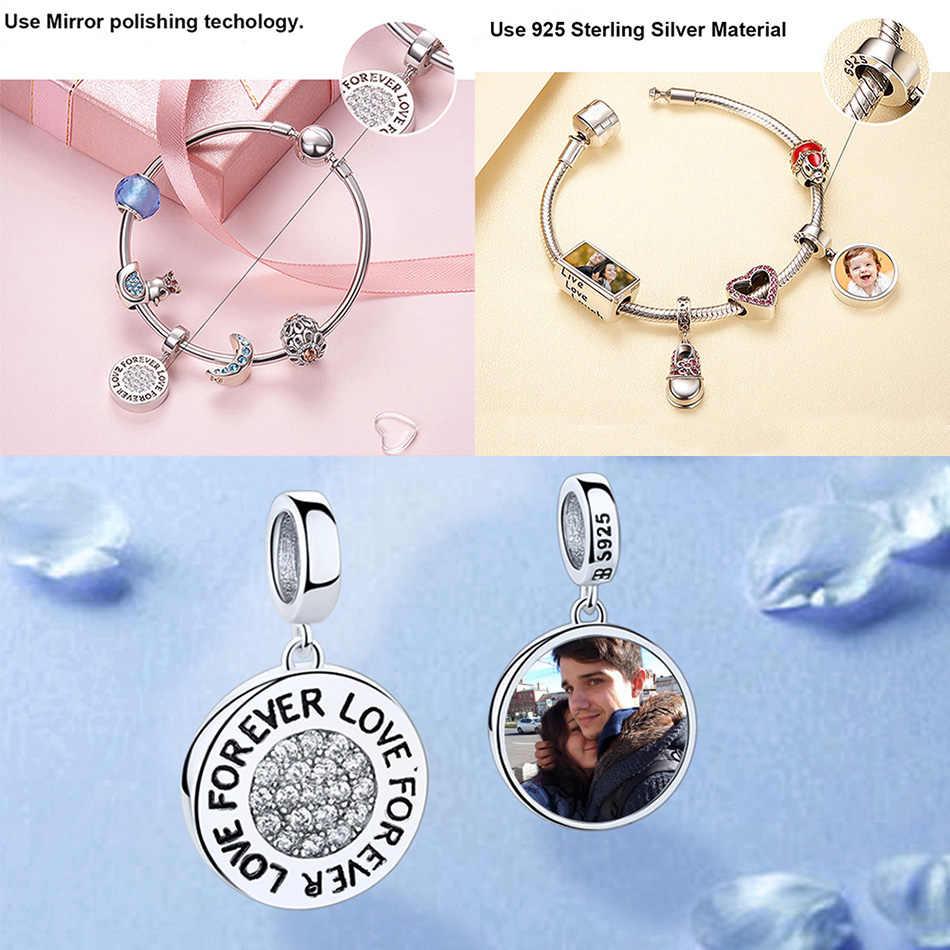 ELESHE Rosa Di Cristallo I LOVE YOU Cuore Bead 925 Sterling Silver Charm Fit Originale Pandora Collana Del Braccialetto Autentico Gioielli FAI DA TE