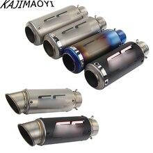 Envío Gratis silenciador de Escape para motocicleta GP Escape silenciadores de fibra de carbono tubo de Escape 51mm 61mm