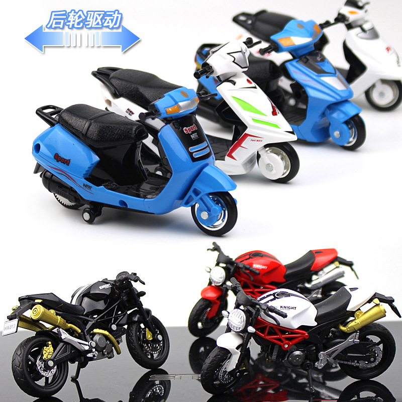 Motorcycle Model Cake Decoration Alloy Ducati Locomotive Creative Decoration Motorcycle Model Toy Car