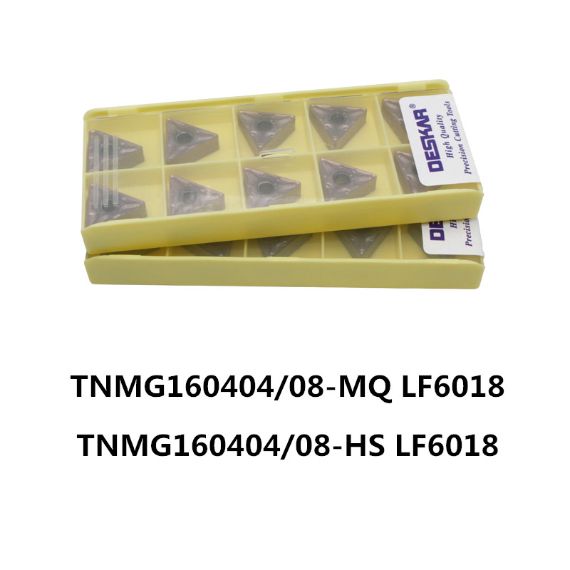 DESKAR VNMG160404-MS LF6018 CNC Carbide Inserts 10Pcs for Stainless steel