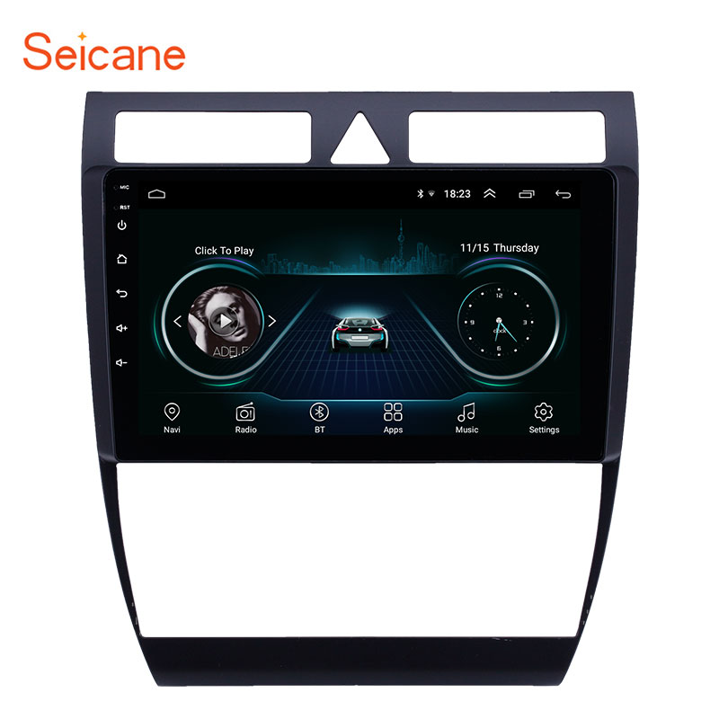 Seicane OEM HD Touchscreen GPS Navigation car Radio 9 inch Android 8.1for Audi A6 S6 RS6 1997 2004 WIFI AUX USB support Carplay