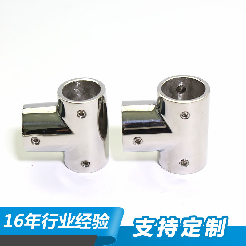 90-Degree T-connector 22 Size Inner Diameter 3mm Thick 316 Stainless Steel Casting Seamless Pipe T-junction Pipe Fitting Corrosi