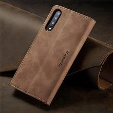 Coque de téléphone portable en cuir PU mat à rabat rétro, étui avec porte-cartes pour Samsung Galaxy A10 20 30 40 50 70 S M10 20