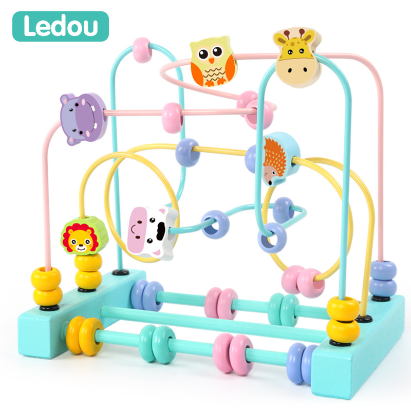 Children Bead-stringing Toy 6-12 Month Baby Girls Educational Toy 0-1-2-3 A Year Of Age 8-Boy 10 Beaded Bracelet Building Blocks