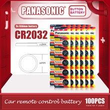 100 pièces/lot PANASONIC Original CR2032 pile bouton 3V Lithium Batteries CR 2032 pour montre jouets ordinateur calculatrice contrôle