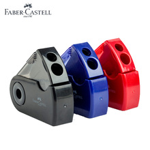 FABER-CASTELL Push Pull Double Pencil Sharpener Single Hole Double Hole Multifunctional Office Stationery Supplies Tool