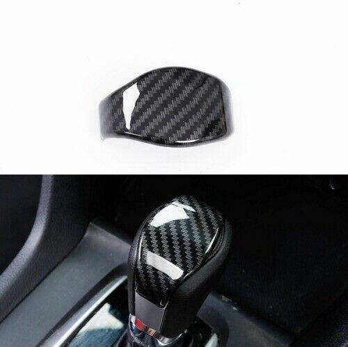New Decoration For Honda Civic 10th Gen 2016 2017 2018 Carbon Fiber Gear Lever Shift Knob Cover Trim