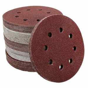 Image 5 - 10Pcs 125mm Grit Round Shape Sanding Discs Buffing Sheet Sandpaper 8 Hole Polishing Pad Sander 80/180/240/320/1000/1500/2000