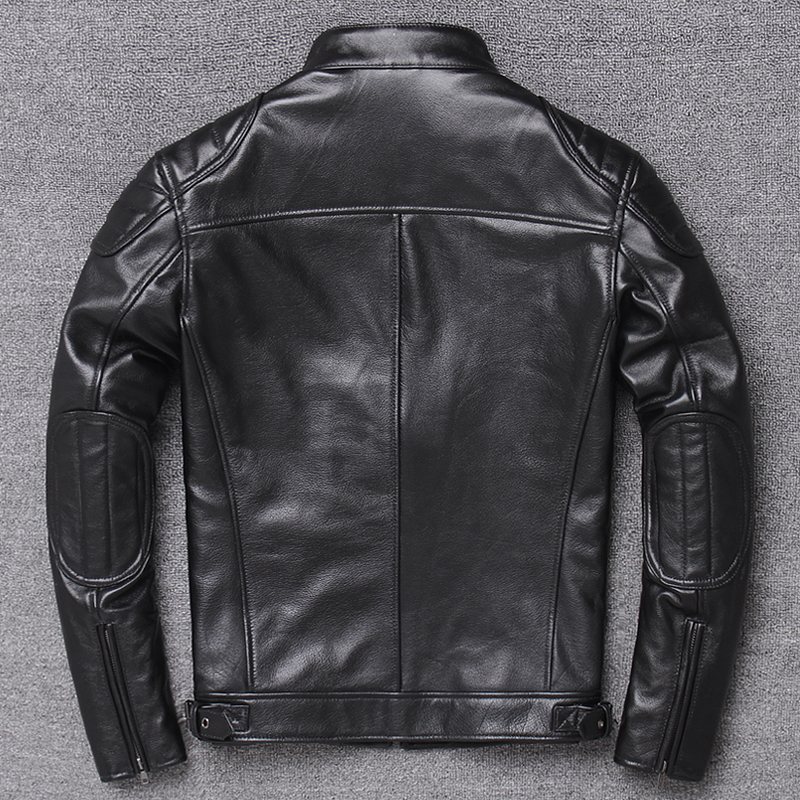 Genuine Leather Jacket Men Winter Clothes 2020 Motociclista Biker Real Cow Leather Coat Man Streetwear Fit Chaqueta W1756