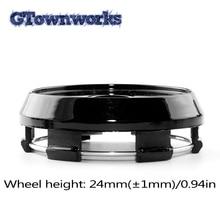 1pc 65mm Car Wheel Center Hub Caps Bright Black Tire Rims Center Cap For Car Styling