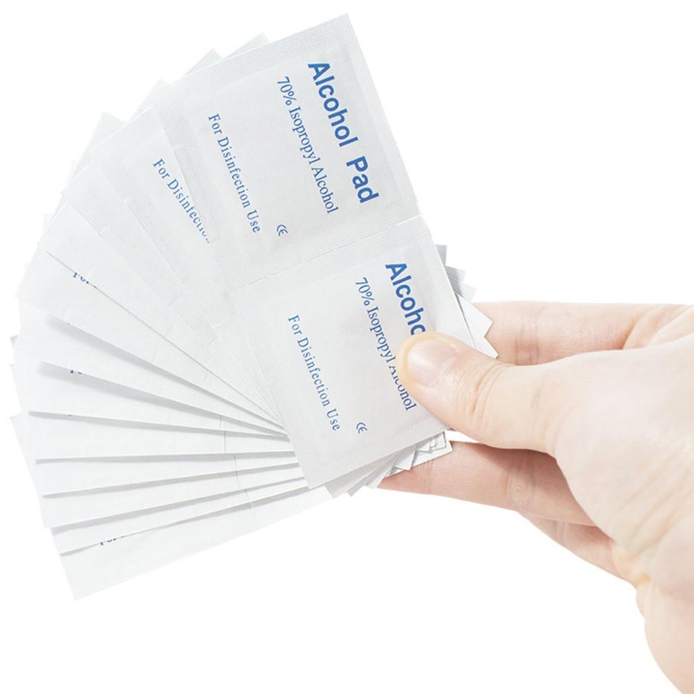 100 Pcs Alcohol Pads Swab Wipe Antiseptic Skin Cleaning CareAntibacterial Swab Pads Dropshipping