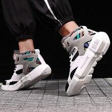 TUINANLE 하이 탑 스니커즈 따뜻한 겨울 플러시 여성 신발 낙서 플랫폼 스니커즈 화이트 러버 신발 사이즈 11 Zapatos De Mujer