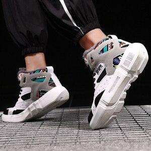 Image 1 - TUINANLE גבוהה למעלה נעלי חורף חם קטיפה נשים נעלי גרפיטי פלטפורמת סניקרס לבן מאהב נעלי גודל 11 Zapatos De Mujer