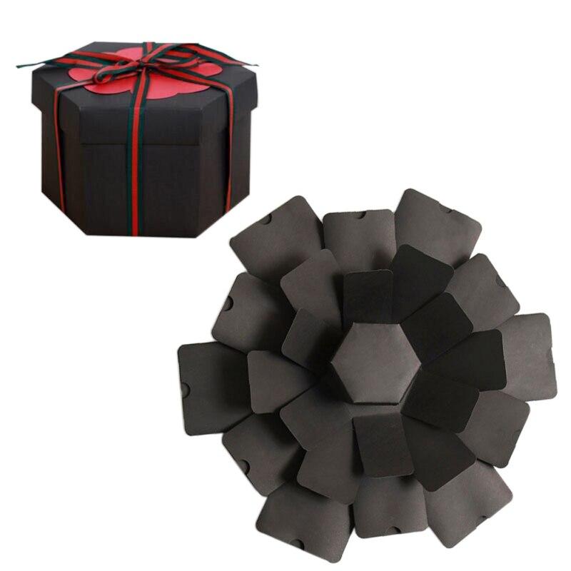 DIY Explosion Gift Box Handmade Photo Album Scrapbooking Birthday Valentine's Day Girl Love Gift Kraft Paper Surprise Box
