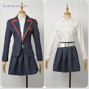 Image 5 - 엘리트 학교 제복 제복 성인 여성 자켓 셔츠 치마 Pleated JK 천을 TV 시리즈 코스프레 할로윈