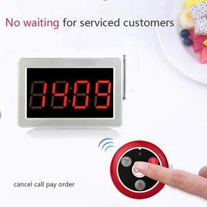 Image 4 - Retekess 전화 고객 서비스 무선 호출 수신기 디스플레이 호스트 + 10pcs 통화 버튼 식당 장비 사무실 카페