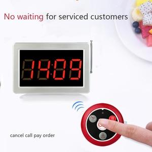 Image 4 - Retekess Call Customer Service Wireless Call Receiver Display Host +10pcs Call Buttons Restaurant Equipment Office Cafe