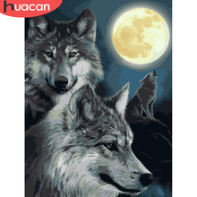 Oil-Painting Number-Kits Painting-Art-Pictures Drawing Handpainted Canvas Animal Home-Decoration