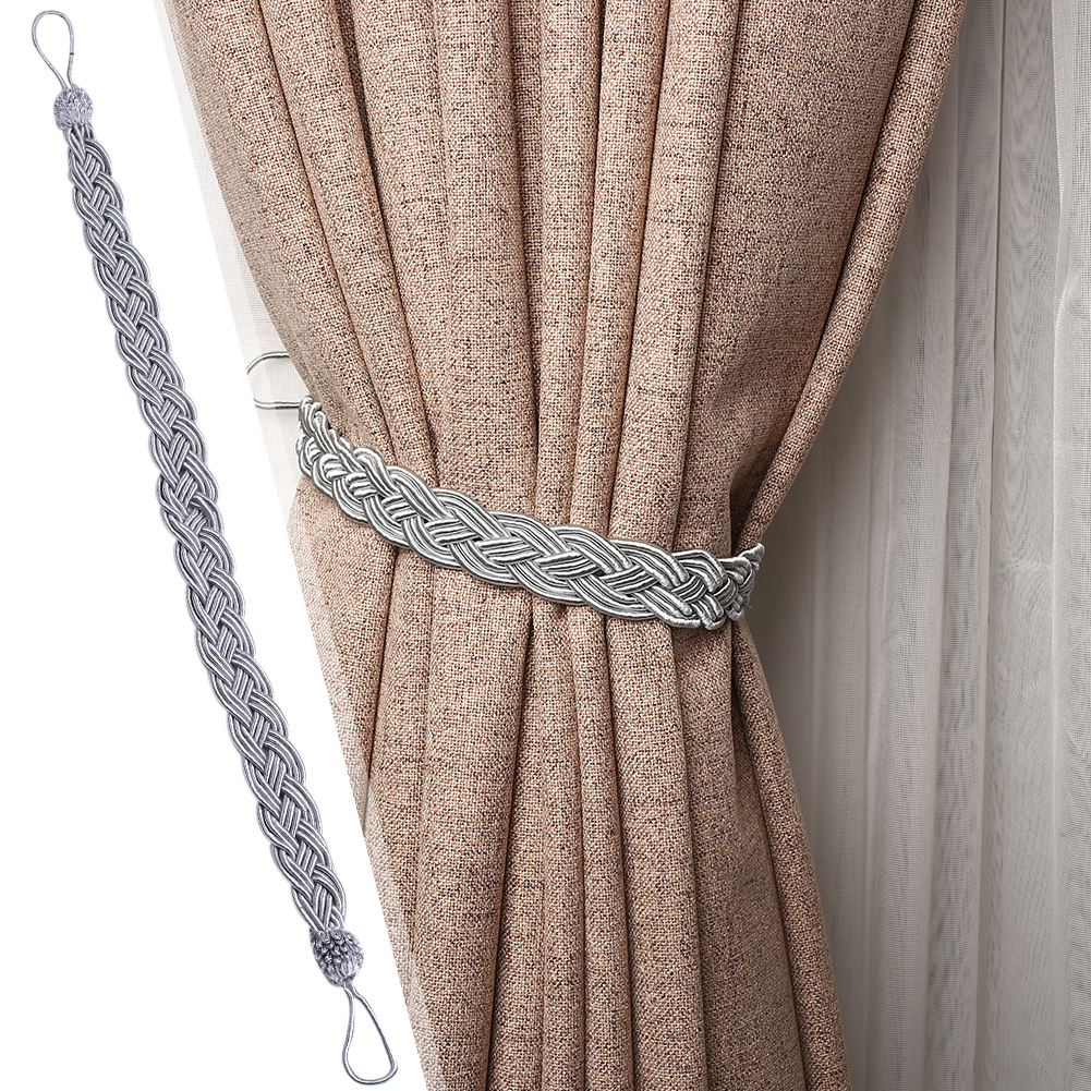 Braided Satin Rope Curtain Tie Back Tiebacks Holdbacks Hold Back Decor Window Treatment Hardware Window Treatments Hardware