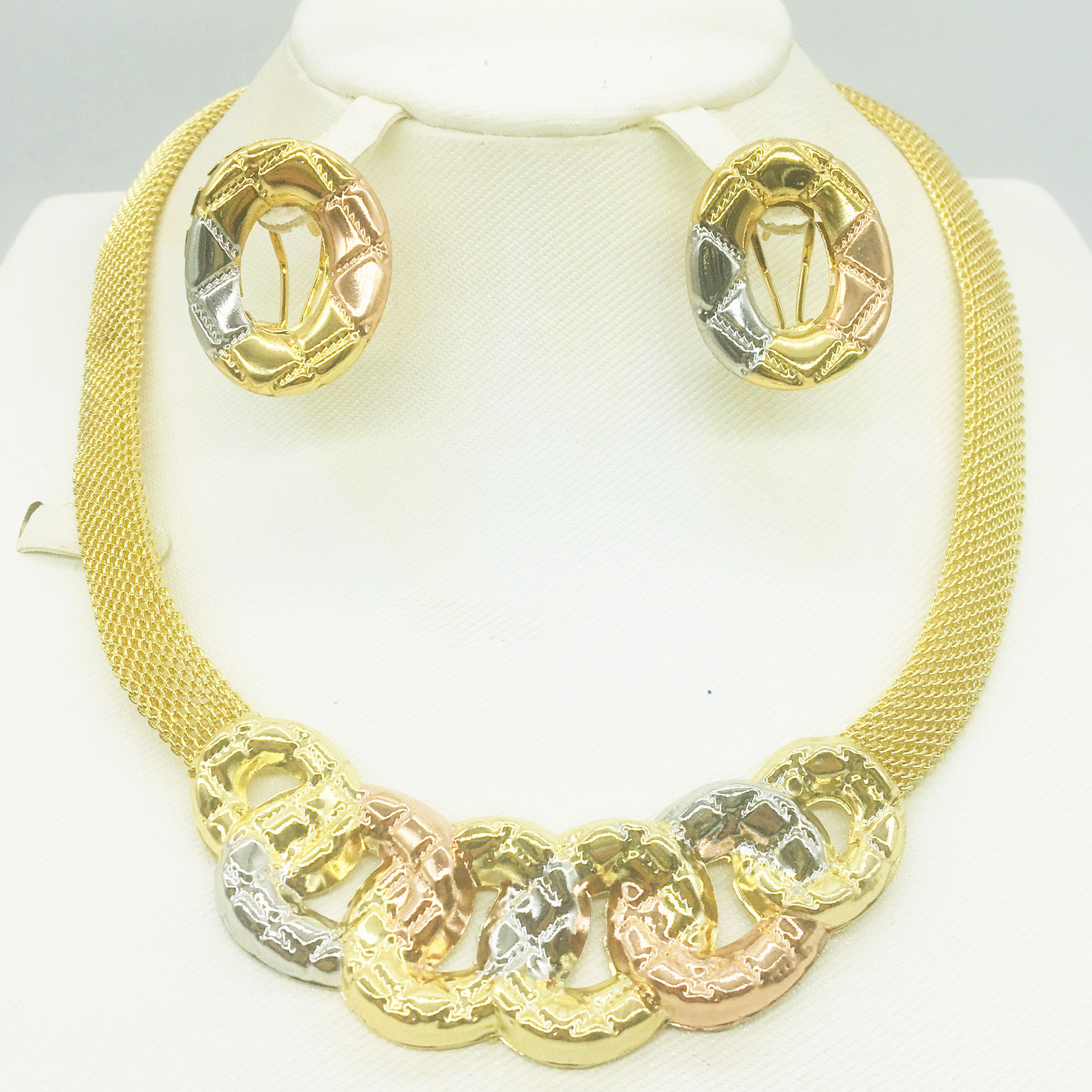 Dubai gold necklace earrings collection fashion <font><b>Nigeria</b></font> wedding African pearl <font><b>jewelry</b></font> collection Italian <font><b>women's</b></font> <font><b>jewelry</b></font> <font><b>set</b></font> image