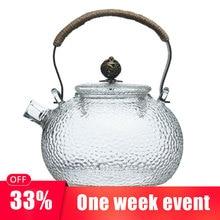 купить GFHGSD 650ml Japanese Heat-resistant Glass Hand-hammer Harp Pot Electric Ceramic Stove Brewing Tea Water Kettle Kung Fu Teapot по цене 1329.33 рублей