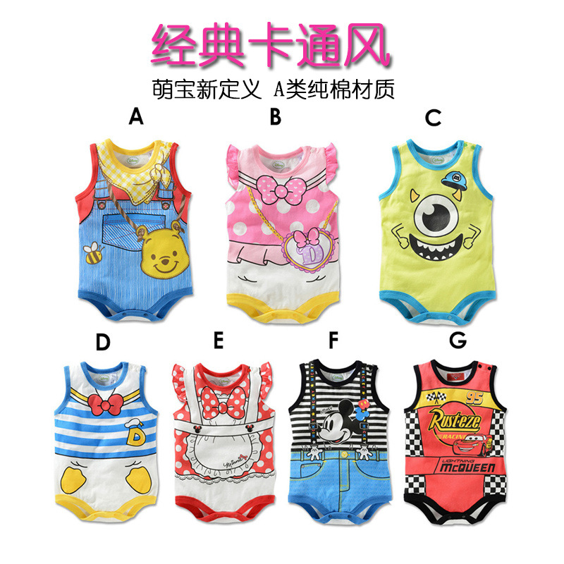Infant Jumpsuit Summer Baby Onesie Triangle Romper Newborns Crawling Clothes 6-9 Month Sleeveless