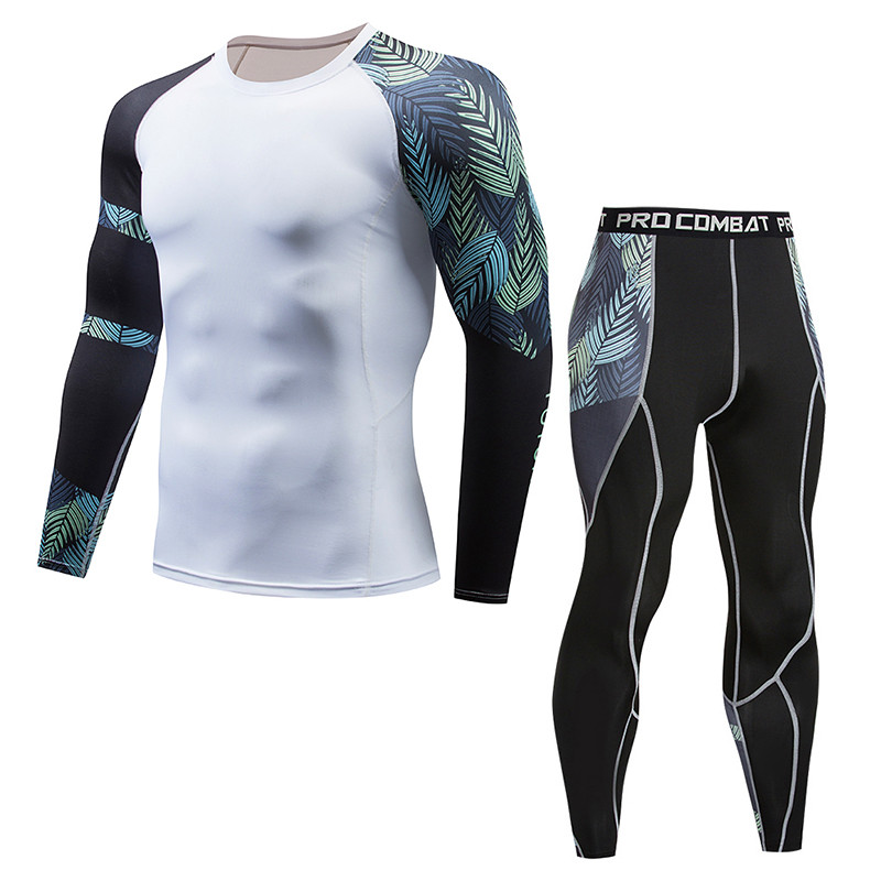 Men's long underwear suit, thermal underwear. Men's underwear set sweat dry, sports riding underwear, fitness male xion