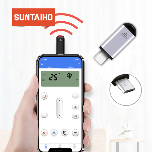 Suntaiho infrared usb c remote for iphone Samsung Xiaomi Mini Smart IR Controller phone Adapter for TV aircondition refrigerator