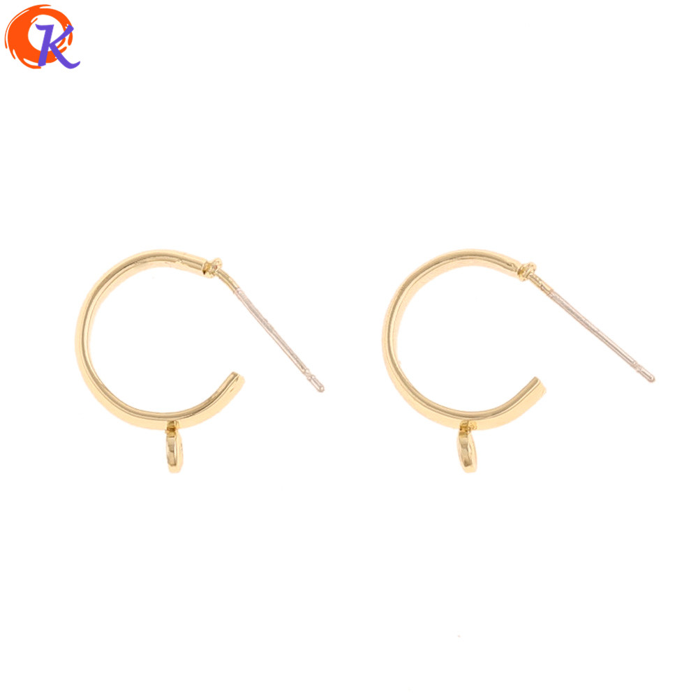 Cordial Design 100Pcs 12*16MM Jewelry Accessories/Earrings Stud/DIY Making/Hooks Shape/Hand Made/Jewelry Findings Components