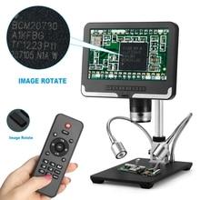 Цифровой электронный микроскоп 1 200x, портативные микроскопы VGA 2 Мп, 7 дюймов, HD, ЖК, печатная плата, ремонт телефонов, ювелирные изделия, увеличительное стекло, камера